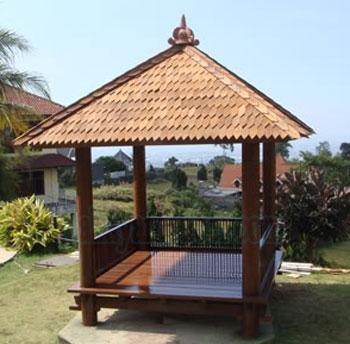 Gazebo Minimalis kayu Kelapa