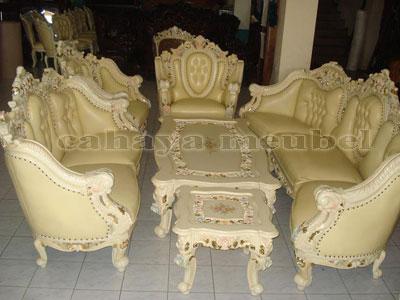 Kursi Tamu Sofa Gajah Duco Putih