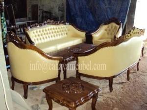 Sofa Tamu Monaco Elegant Kayu Jati