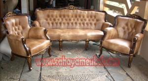 Sofa Tamu Elegant Kayu Jati