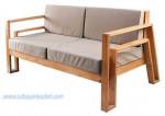 Bangku Sofa Minimalis Modern Jati
