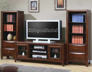 Lemari Tv Minimalis Modern Kayu Jati