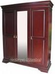 Lemari Pakaian 3 Pintu Elegant Kayu Jati
