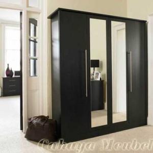Lemari Pakaian Minimalis 4 Pintu Modern