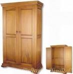 Lemari Pakaian Kayu Jati 2 Pintu Minimalis