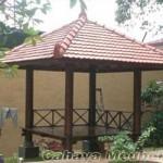Gazebo Kayu Kelapa Atap Genteng
