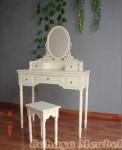 Meja Rias Klasik Warna Putih Duco