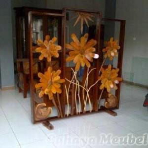 Sketsel Bunga Antik Kayu Jati Jepara