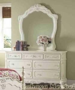 Meja Rias Klasik Mewah Warna Putih Duco