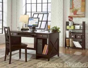 Set Meja Kerja Minimalis Furniture Jati Jepara