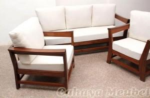 Furniture MInimalis Set Kursi Tamu Jati Modern