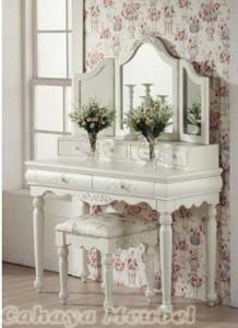 Meja Rias Warna Duco Putih