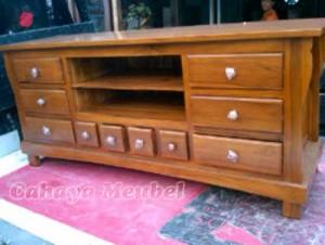 Jual Furniture Jepara Bufet Tv Minimalis Jati