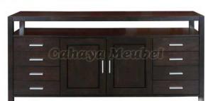 Bufet Hias Minimalis Jati Furniture Modern