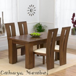 Set Meja Makan 4 Kursi Modern Furniture