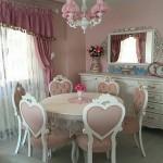 Meja Makan Bundar Klasik Mewah Warna Putih