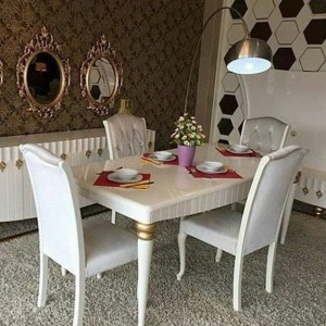 Set Kursi Makan Minimalis Warna Putih