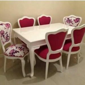 Meja Makan Duco Putih 6 Kursi