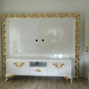 Set Bufet Tv Klasik Duco Putih