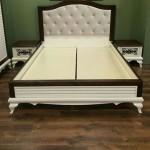 Tempat Tidur Minimalis Duco Putih Jok