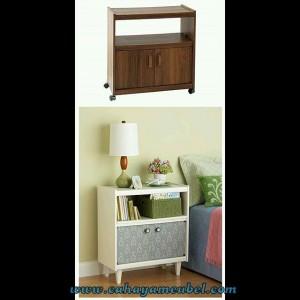 Meja Lampu Minimalis Modern Duco Putih