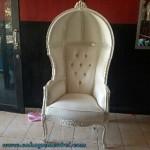 Kursi Kerodong Cat Duco Putih
