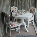 Set Kursi Makan Cantik Duco Putih