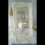 Mirror Klasik Ukir Mewah Duco Putih