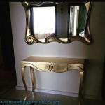 Meja Konsul Minimalis Elegant Gold
