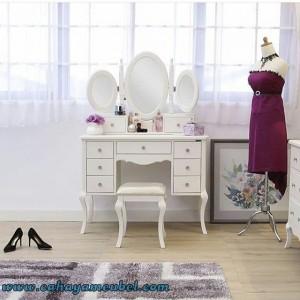 Meja Rias Kupu Cat Duco Putih