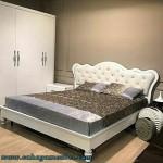 Set Tempat Tidur Minimalis Modern Duco Putih