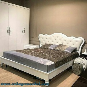 set tempat tidur minimalis modern duco putih cahaya