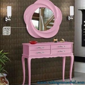 Meja Konsul Mirror Pink