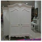 Lemari Pakaian 2 Pintu Klasik Duco Putih