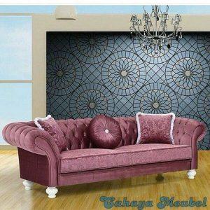 Sofa Full Jok Mewah Warna Ungu