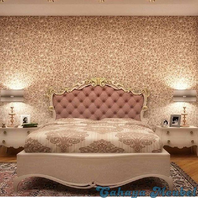 tempat tidur klasik mewah putih duco jepara cahaya mebel