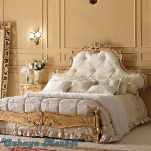 Tempat Tidur Ukir Warna Klasik Antik Jepara