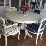 Set Meja Makan Bundar 4 Kursi Duco Putih