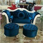 Set Sofa Pelaminan Duco Putih