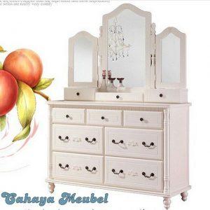 Meja Rias Laci Putih Furniture Jepara