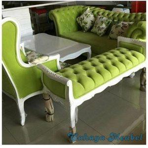Set Kursi Tamu Modern Duco Putih Jepara