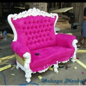 Kursi Sahrini Jok Pink Duco Putih