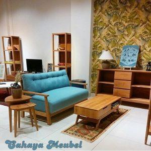 Kursi Tamu Retro Modern Kayu Jati