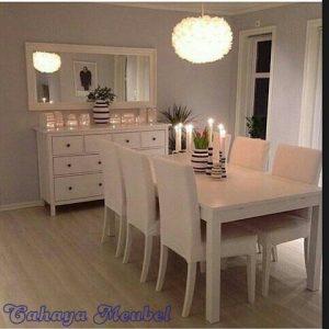 Meja Makan Duco Putih Jepara