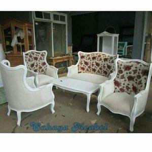 Kursi Tamu Shabby Modern Putih