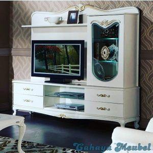 Lemari Tv Modern Cat Putih Duco