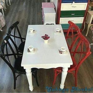 Set Meja Makan Modern Kursi Koboy