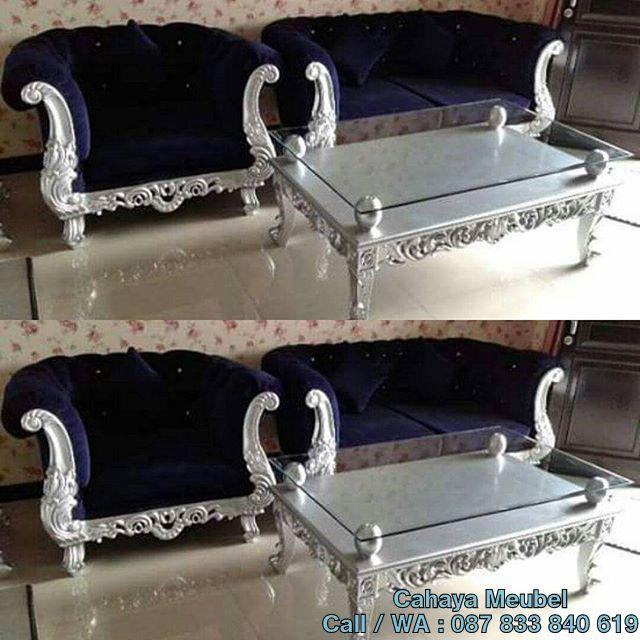 Sofa Tamu Mewah Klasik Ukir Jepara