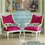 Kursi Cantik Pink Duco Putih