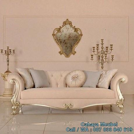 Sofa Santai Klasik Mewah Silver